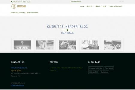 demo bloc: Client